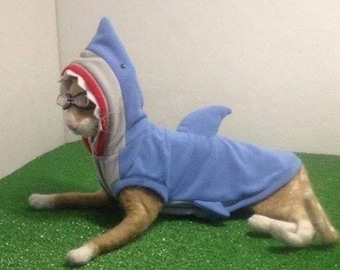 Shark Attack, cat clothing, PerfettoPeterbald has a fun selection