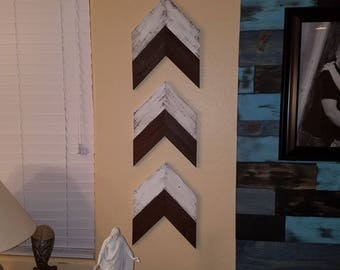 Rustic Wood chevron arrows