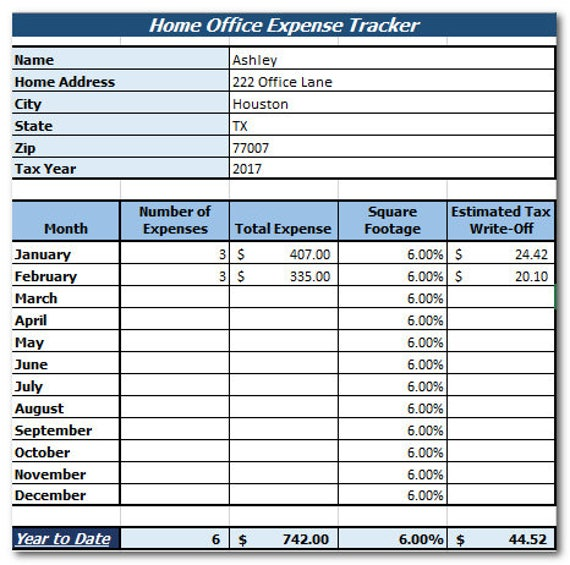 Home Office Expense Tracker