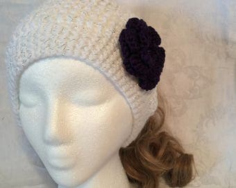 Ponytail Hat With Detachable Flower