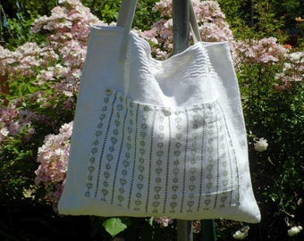 Linen shopper, tote bag, shopping bag