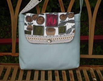 Shoulder bag ~ 70's fabric