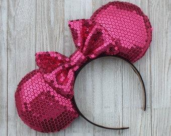 Valentines Minnie Ears, Disney Ears, Mickey Ears, Minnie Ears, Mickey Mouse Ears, Minnie Mouse Ears, Valentine Ears, Headband Ears