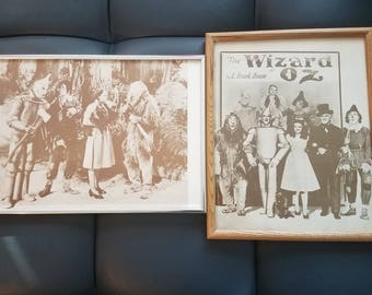 Original wizard of oz pictures rare and framed