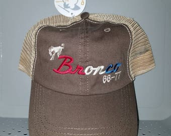 Early Bronco brown American hat