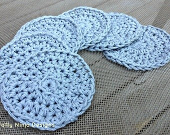 Crochet washcloth, Face scrubbies, face scrubbers, face wash, exfoliator, crochet face cloth, makeup remover, reusable face cloth
