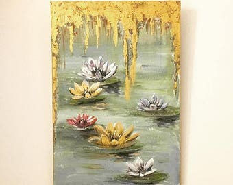 VANESSAPEKA - Water lilies, gold plated