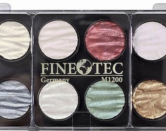Finetec M1200 Mica Pigment Rich Pearl Watercolor Paint set of 12