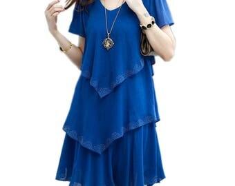 Summer Dress 2017 Blue Party Dresses Women