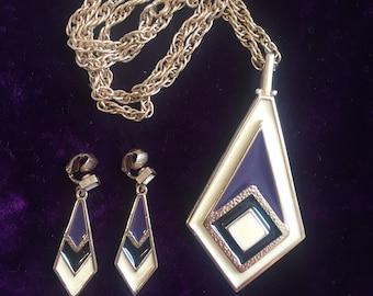 Vintage Park Lane Necklace & Clip Earring Set