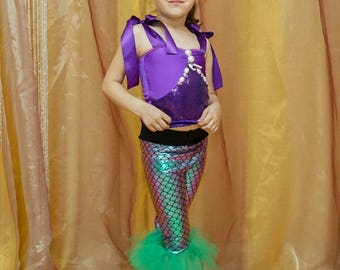Mermaid costume. Halloween costume. Birthday dress.