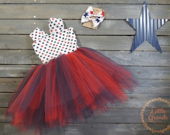 Fourth of July Tutu Dress Set 3T