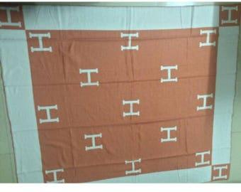 Orange custom h blanket