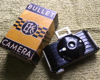 Vintage Kodak Bullet Camera with Original Box ~ Art Deco~