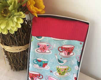 teacup decorative kitchen towels