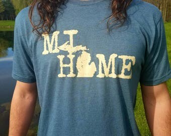 MI HOME (My Home) Super Soft Polyester/Cotton Blend Crew Neck T-Shirt