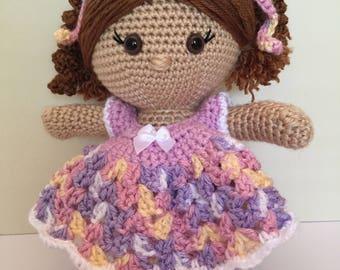 Molly - Handmade Crocheted Doll, Amigurumi Doll, Stuffed Toy