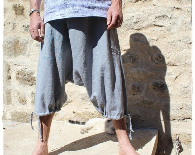 Sarouel ethnic for men in gray linen