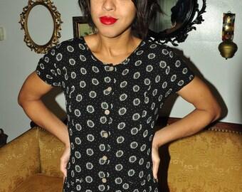 The Ivy: 90s Daisy Maxi Button Dress