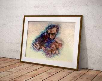 Special sale! Logan, Hugh Jackman, Watercolor Logan, Wolverine digital print, Logan printable