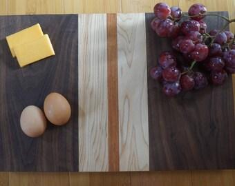 Natural Wooden Cutting Board Walnut, Maple, Jatoba handmade Butcher Block