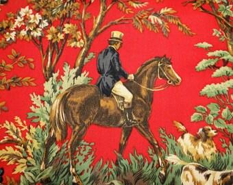 Ralph Lauren Ainsworth Equestrian Canterbury Red Fabric