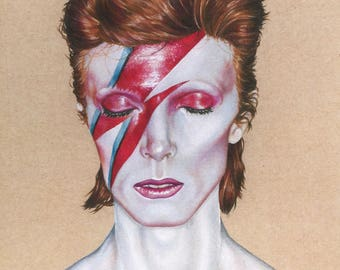 David Bowie Illustration - Print