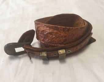 Vintage belt - Merl leather belt