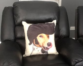 Elvis Dog Face Cushion, Funny Pillow, dog Cushion, dog Pillow