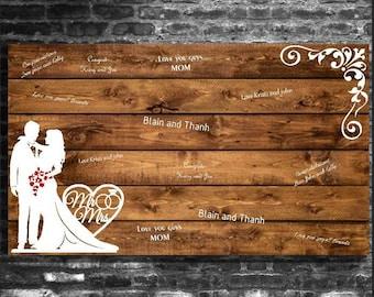 Corner Couple Wedding Guest Book Board
