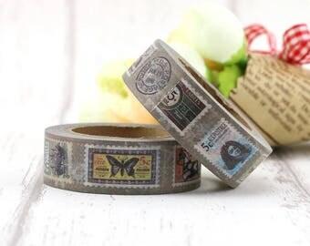 Washi tape, stamps washi tape - Vintage