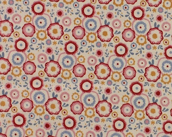 Tilda Limited Edition Candy Bloom, Candyflower in Dove White Fat Quarter