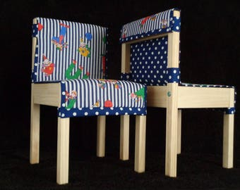 Childrens' Quilted Cushions for LÄTT Table & Chair Set - Alphabet