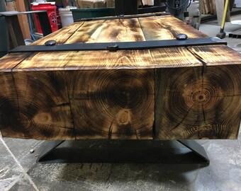 8x8 beam coffee table