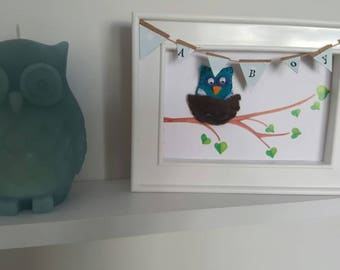New baby boy gift picture/ card