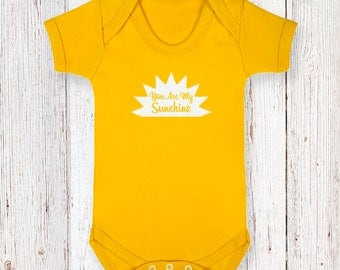 Yellow You Are My Sunshine Bodysuit