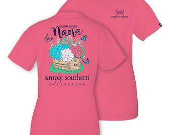 Simply Southern Strawberry Pink Beyond Blessed Nana Short Sleeve T-Shirt
