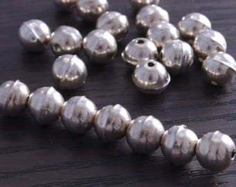 Sterling Silver Bench Made Beads 8mm (pack of 10 beads) DB4B Sterling Silver Bench Made Beads 8mm (pack of 10 beads) DB4B