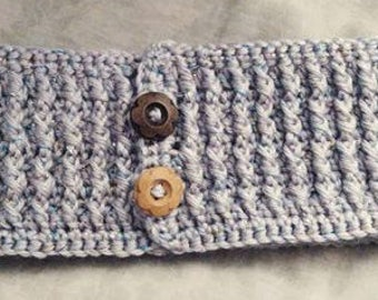 Simple crochet cabled headband