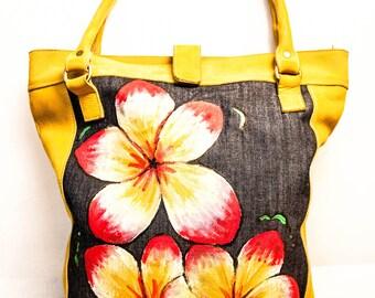 Yellow Leather Frangipani