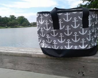 Nautical Anchor Cooler Tote
