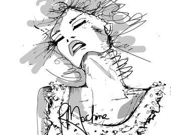 """Custom Illustration - Pen & Ink - Digital - """"Stay Loose"""""""