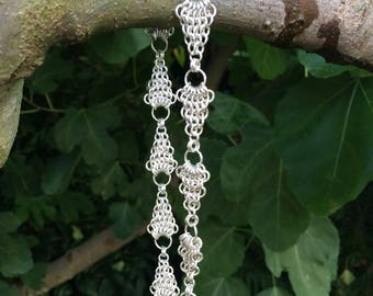 Sterling Silver Leaf Link Necklace