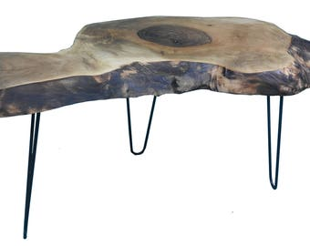 Natural Walnut 93x35x51x5 Cm coffee table