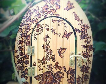 Pyrography Fairy Door
