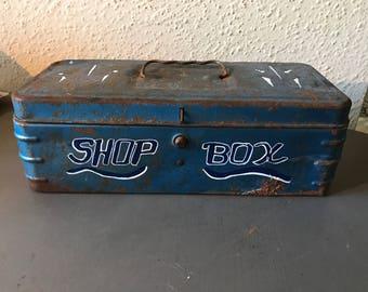 Hand pinstriped vintage tool box