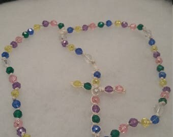 Colorful rope rosary