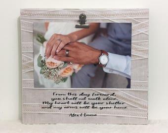 Wedding frame, wedding gift, personalized frame, newlywed gift, newlywed frame, personalized gift, personalized wedding gift