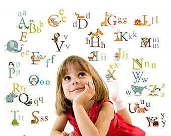 ABC Alphabet Removable Stickers Wall Decal Art Kids Nursery Room