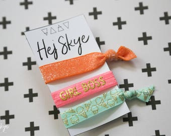 Set of 3 Saga Collection Hair Ties